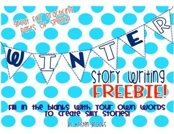 """My First Snowman"" Winter Story Making FREEBIE!"