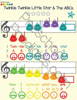 My First Songbook: Volume I (color coded kid songs)