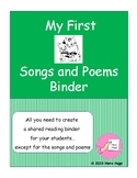 My First Songs and Poems Binder: Create Your Own