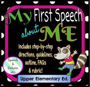 My First Speech about Me (speech format, guidelines, outline, rubric)