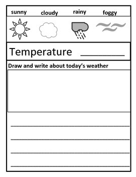 My First Weather Journal (Spring)