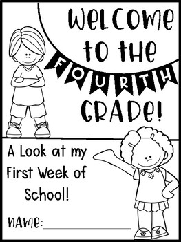 My First Week - A Back to School Activity