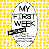 First Week of School | All About Me Activities