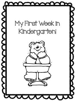 My First Week Of School Packet