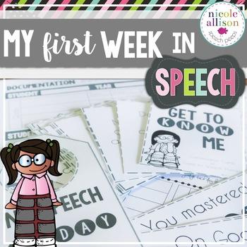 My First Week in Speech