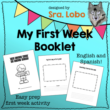 My First Week of First Grade - ENGLISH AND SPANISH