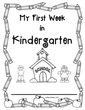 My First Week of Kinder Packet