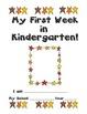My First Week of Kindergarten