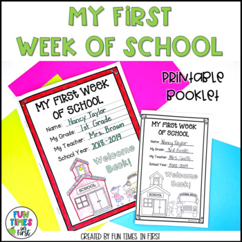 My First Week of School~ A Back to School Printable Book for the First Week