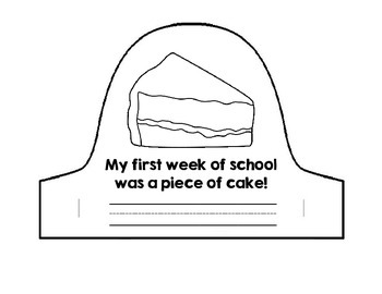 My First Week of School Hat Activity