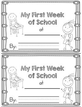 My First Week of School Memory Book