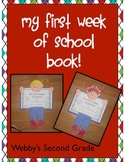 My First Week of School Memory Book