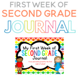 My First Week of Second Grade Journal