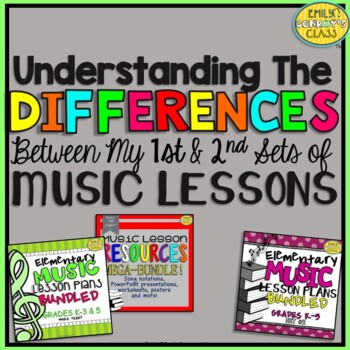 My First and Second Sets of Music Lessons (Understanding the Differences)