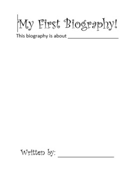 My First biography