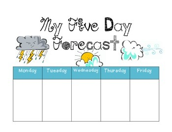 My Five Day Forecast