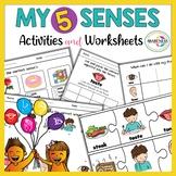 Five Senses Worksheets    Adjectives, Vocabulary & Sorting Activities