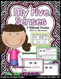 My Five Senses - 3 Version Booklet