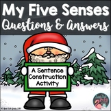 Sentence Construction Activity My Five Senses