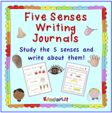 My Five Senses Writing Journal