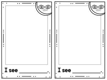 My Five Senses Booklet