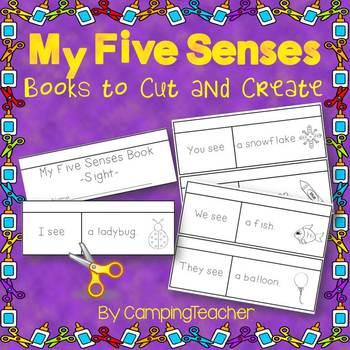My Five Senses Books to Cut and Create