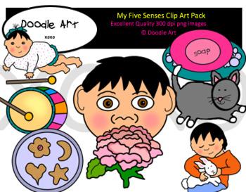 My Five Senses Clipart Pack
