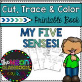 My Five Senses Cut, Trace, and Color Printable Book