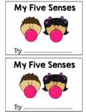 My Five Senses Differentiated (Read, Trace, Write) Book