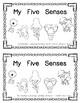 My Five Senses Emergent Reader
