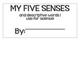 My Five Senses Flip Chart (Ideal for ESOL)