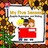 FIVE SENSES ORGANIZERS AND WRITING for Kindergarten and First Grade