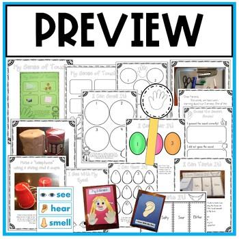 My Five Senses (Hands On Fun!) Activities, Experiments, Craft Book, Posters