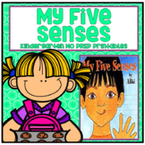 My Five Senses Kindergarten NO PREP Supplemental Printables