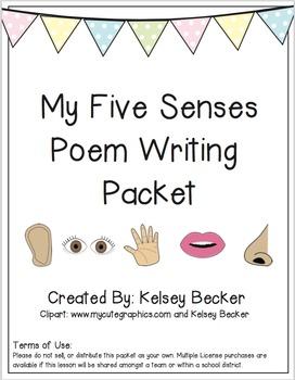 My Five Senses Poem Writing Packet