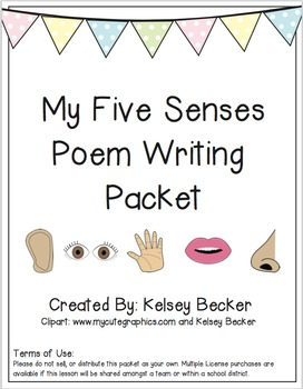 My Five Senses Poem Writing Packet