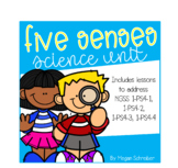 My Five Senses Science Unit (Aligned w/ NGSS 1-PS4-1, 1-PS