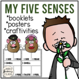 Five Senses Activities with Booklet, Craftivity, and Posters (Distance Learning)