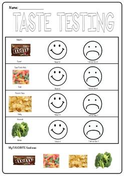 My Five Senses! Taste Testing!