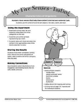 My Five Senses--Tasting (Characteristics of Organisms)