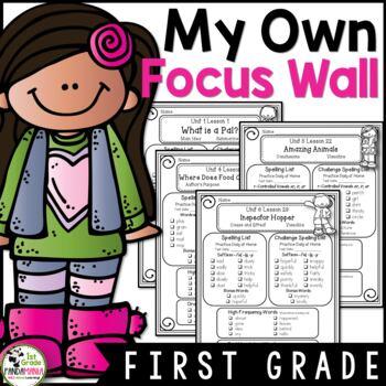 My Focus Wall 1st Grade Houghton Mifflin Journeys Refrigerator Copies