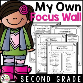 My Focus Wall 2nd Grade Houghton Mifflin Journeys Refrigerator Copies