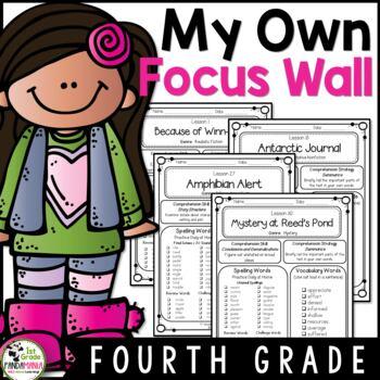 My Focus Wall 4th Grade Houghton Mifflin Journeys Refrigerator Copies
