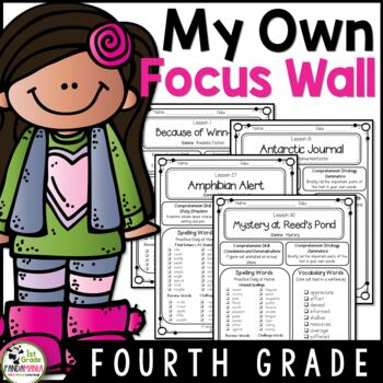 Journeys 4th Grade Focus Wall Refrigerator Copies Aligned With HMH Journeys