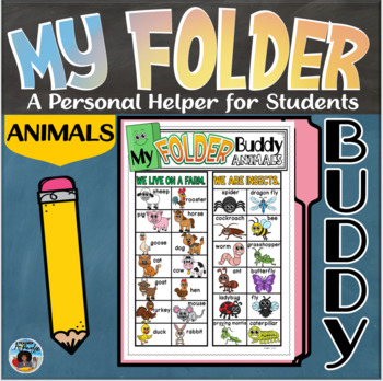My Folder Buddy-A Personal Helper for Students {Animals}