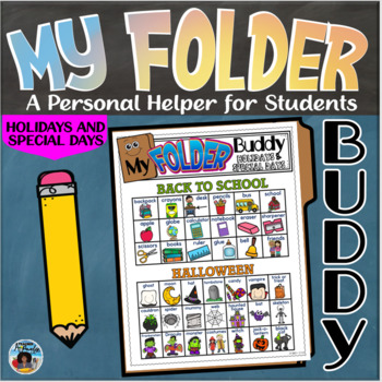 My Folder Buddy-A Personal Helper for Students {Holidays and Special Days}