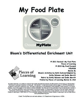 My Food Plate - Differentiated Blooms Enrichment Unit