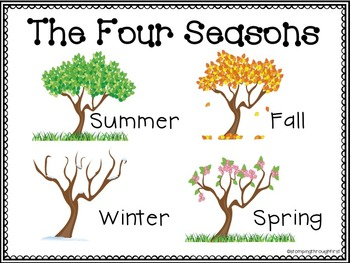 My Four Seasons Book- A Science FREEBIE!