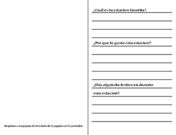 My Four Seasons Book - Mi libro de las cuatro estaciones (ENGLISH AND SPANISH)