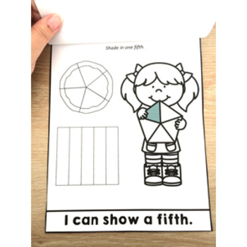 Fractions My Fraction Flip Book Fifths Activities Interactive Activity